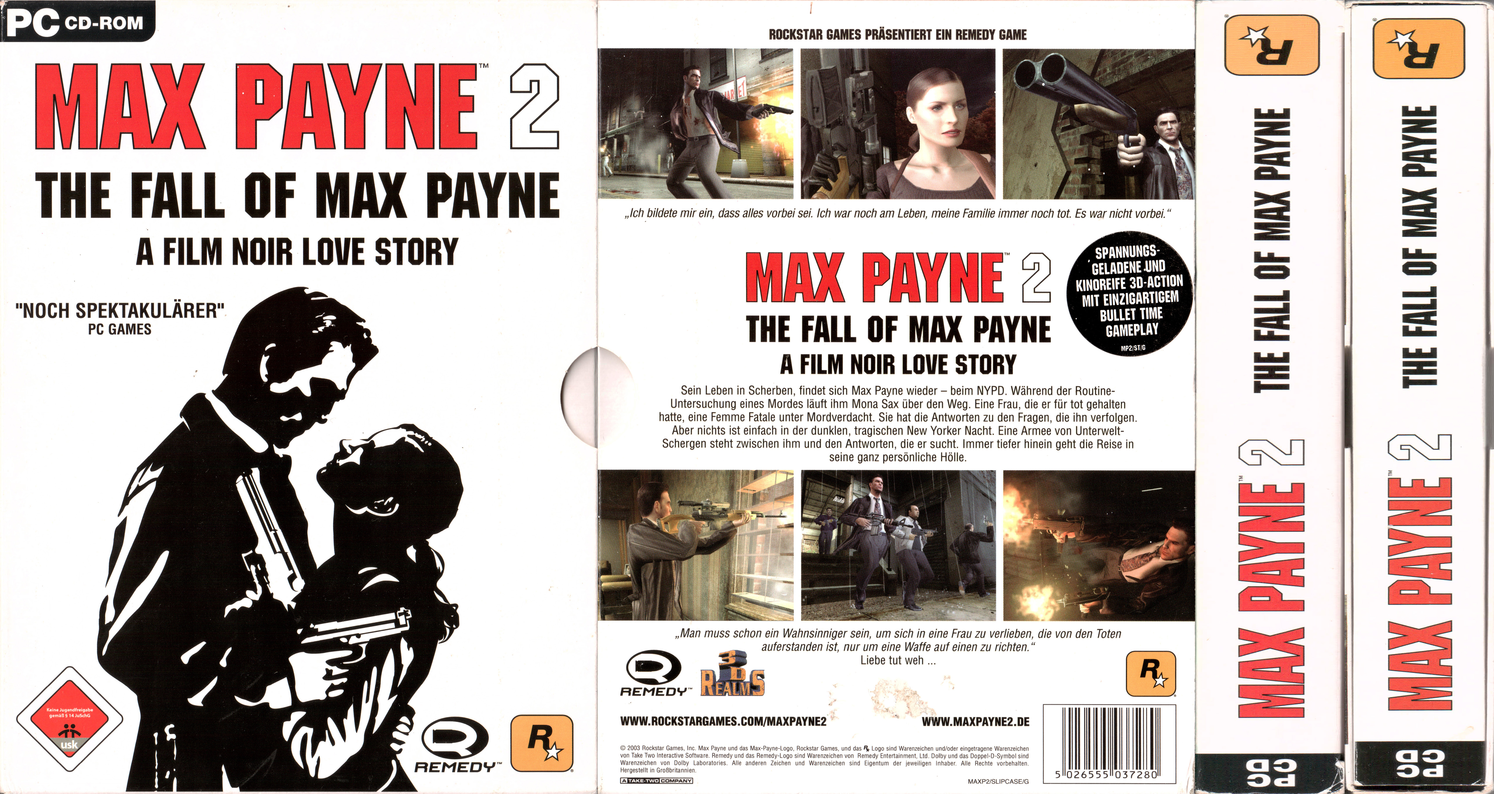 Big Box Collection Papercraft Model For Max Payne 2 The Fall Of