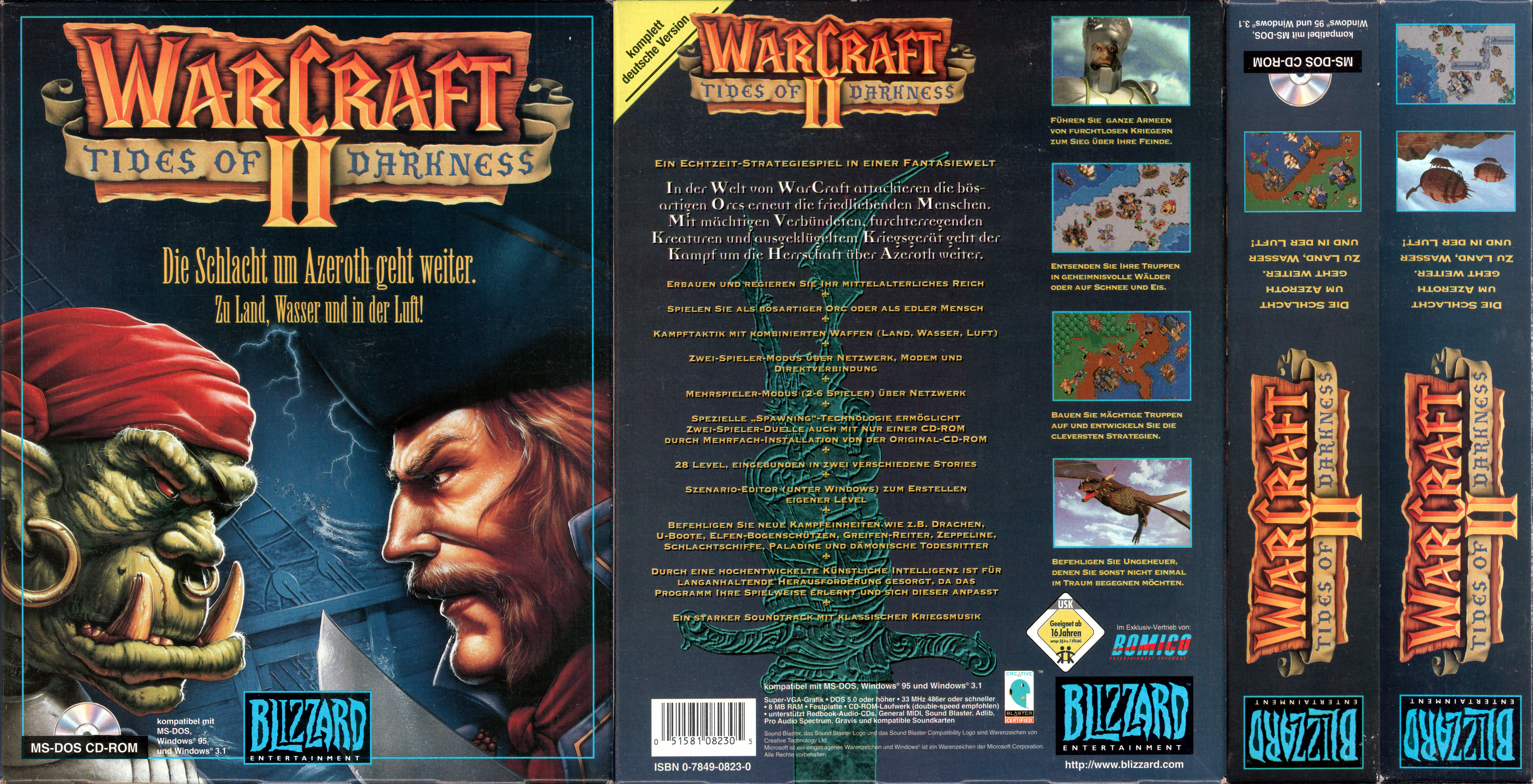 warcraft 2 box art